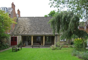 Meeting house from garden