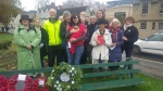 Laying the wreath of White Poppies